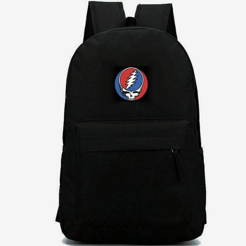 ممتنة ميتة ظهرت حربية الفرقة daypack الألبوم موسيقى الروك مدرسية للجنسين حقيبة الظهر حقيبة مدرسية عارضة في الهواء الطلق