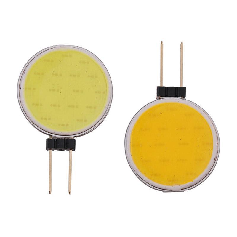 المصابيح 10 X G4 COB LED الأضواء المصباح 7W 30 نقية أبيض / دافئ ضوء الذرة بيضاء DC12V