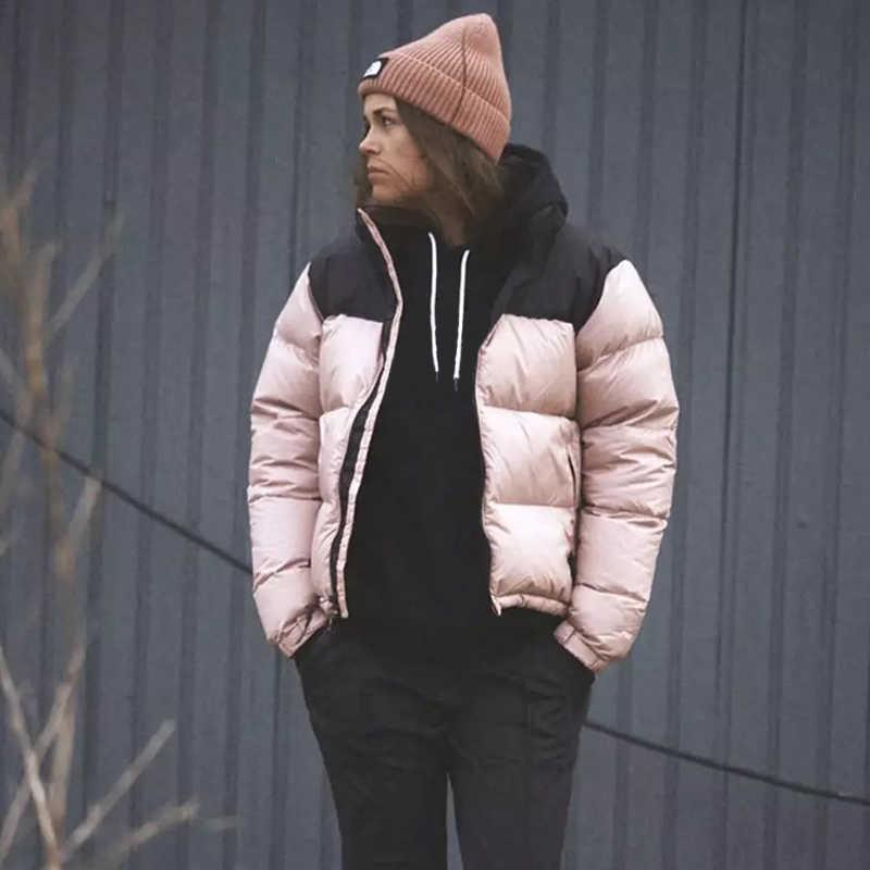 رجل أسفل القطن سترة سترة الشتاء النسائية الأزياء الكلاسيكية عارضة الدافئة للجنسين التطريز السوستة قمم معطف outwear8w0k