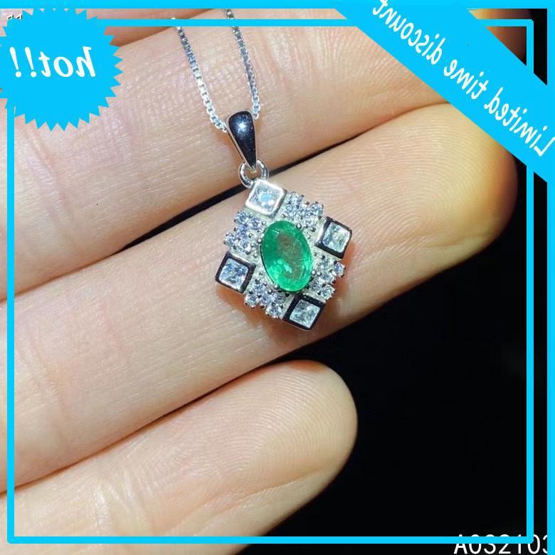 Kjjexcmy jóias fina 925 prata esterlina injetado natural esmeralda menina fresca simples gema cabide suporte cheque