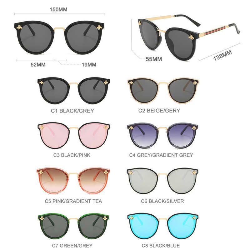 Luxury designer Sunglasses Hooban 2021 Cat Eye Women Men Brand Designer Bee Lady Sun Glasses Fashion Shades Eyeglasses Uv400