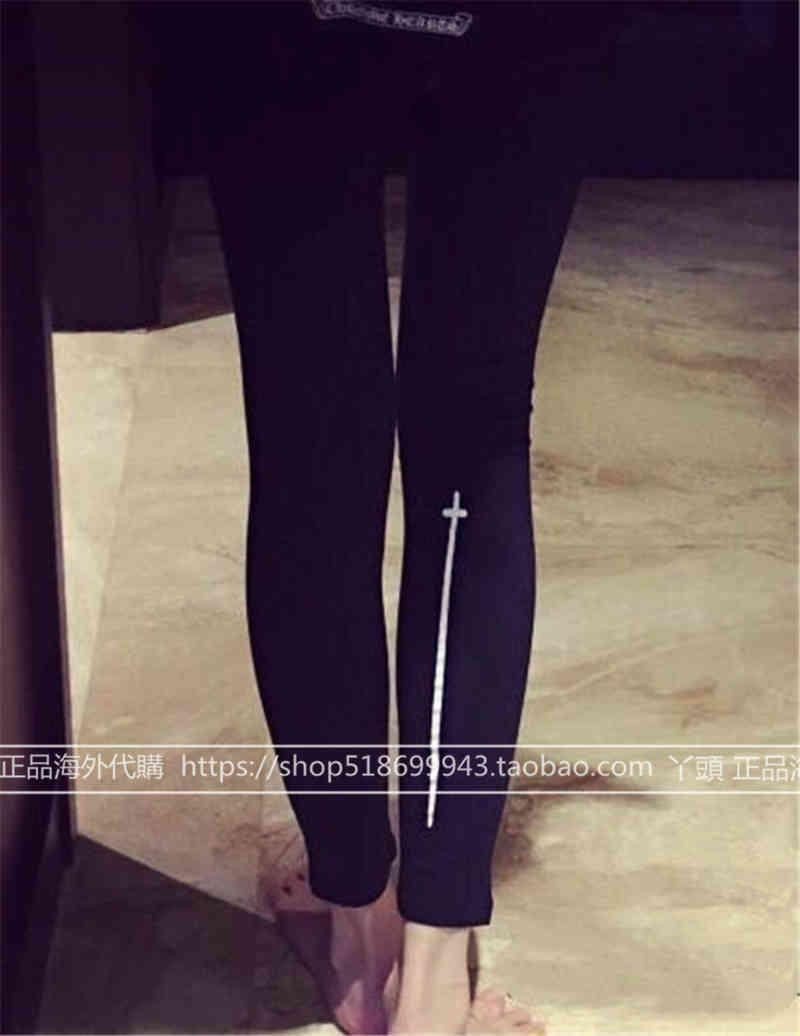 Ch Crosin H / Greare / cromato crosin cross -hearts è addensato sottile, tamponamento della gamba e leggings peluche LXH