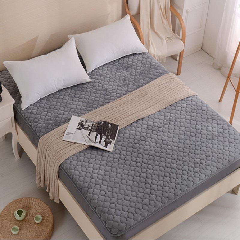 الشتاء المخملية أفخم السرير ورقة جاهزة ورقة واحدة مبطن رشاقته عدم الانزلاق الكل شاملة الغلاف فراش 1.8x2M واقية ورقة ورقة مجموعات