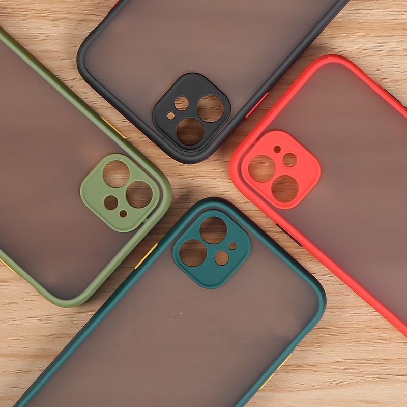 Матовый телефон для телефонов для iPhone 12 Mini 11 Pro Max XR XS 6S 8 7 плюс ударопрочная мягкая крышка TPU