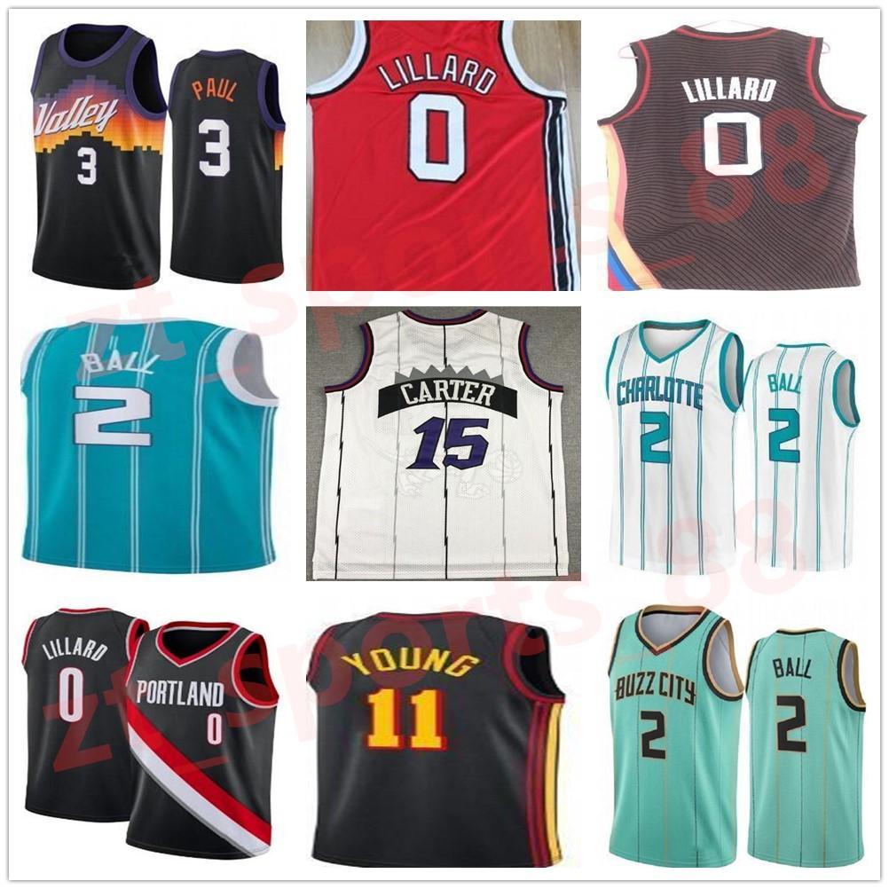 2021 Basketball Chris Damian 3 Paul 0 TRAE LILLARD Devin Vince 1 Booker 11 Junger Trikot 15 Carter Lamelo 2 Ball City