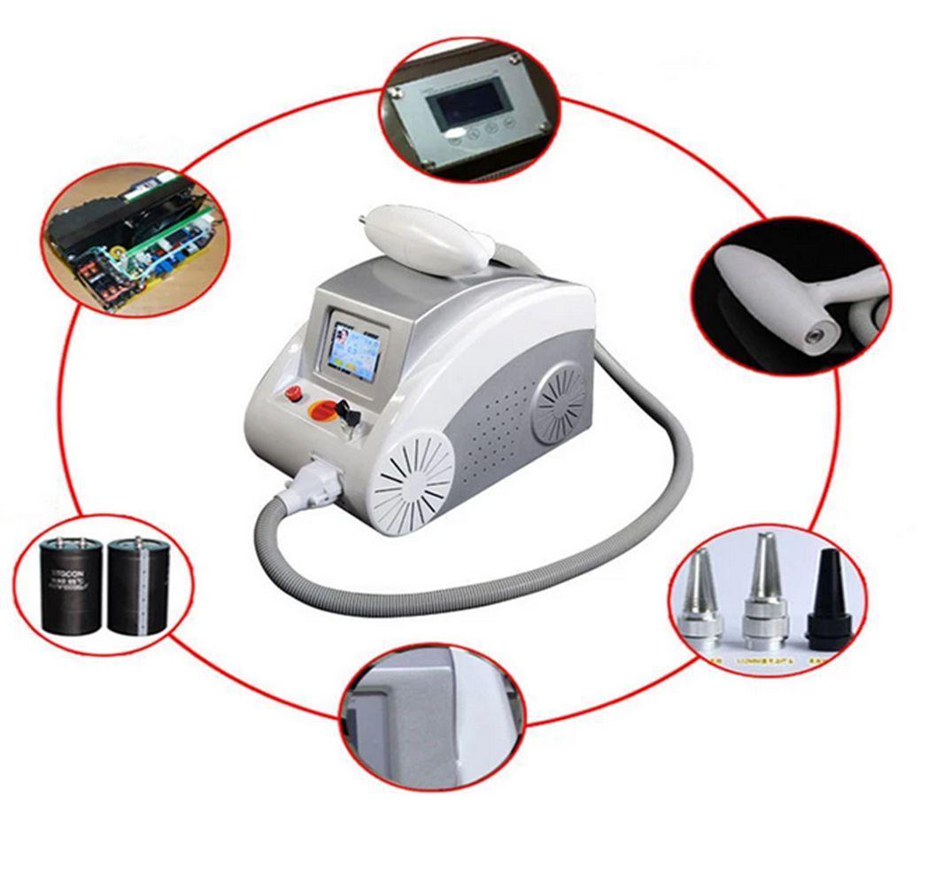 Q-Switched ND YAG Lazer Dövme Temizleme Makineleri 2000mj Kaş Pigment Benek Siyah Bebek Cilt Beyazlatmak Güzellik Ekipmanları Yok Skar