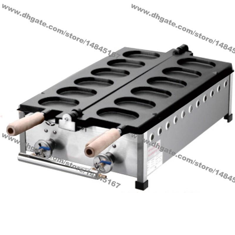 6шт Корейский яичный торт Коммерческое использование Непричслянные LPG Газ Gyeranbbang Maker Машина Baker Железная Форма