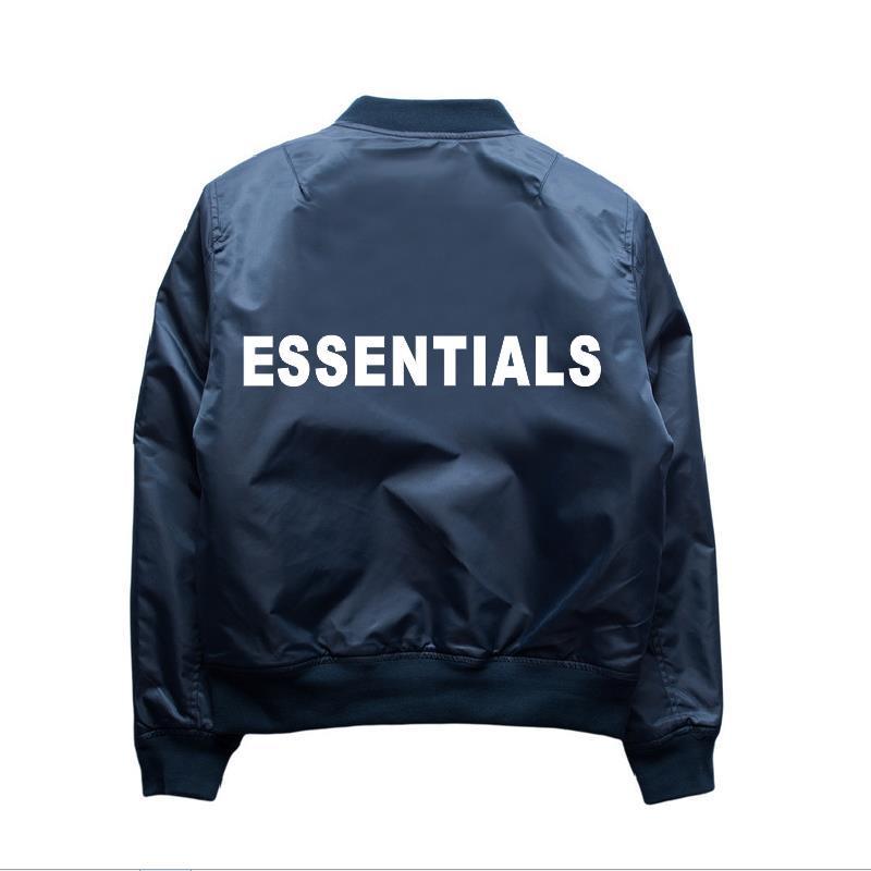 Dropshipping Hip Hop Kanye West Fog Essentials Veste de vol Veste Baseball Uniforme Hommes Femmes Vêtements Vêtements Vêtements Ma1 Bombard Coat Tops