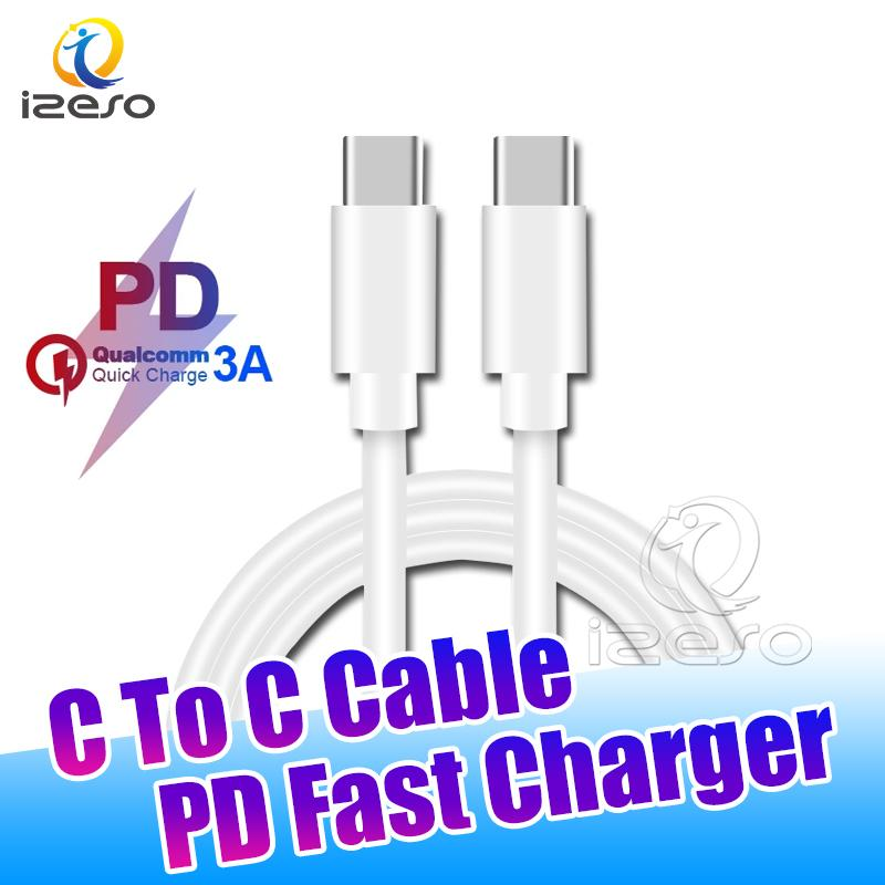 3A PD Data Cable USB-C to USB Type C Cables Fast Charger 60W Quick Charging Wire for Samsung S21 Huawei Mobile Phone izeso
