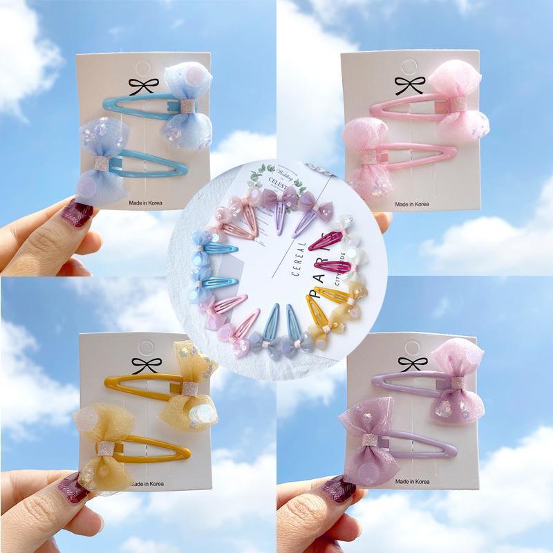 한국 어린이 소녀 작은 작은 hairclip 여름 봄 사랑스러운 귀여운 레이스 활 헤어핀 패션 머리 장식 헤어 액세서리