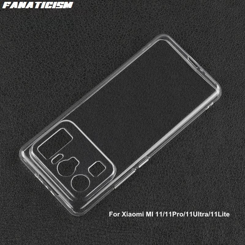 İnce 1mm Temizle Yumuşak TPU Kılıfları Xiaomi Mi 11 Pro Için Ultra Lite Mi11 11PRO 11UTTRA 11Lite Şeffaf Silikon Telefon Kapak