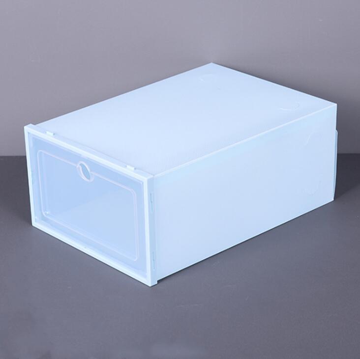 Пластиковые ботинки коробки лоскутные коробки для хранения прозрачной обуви.