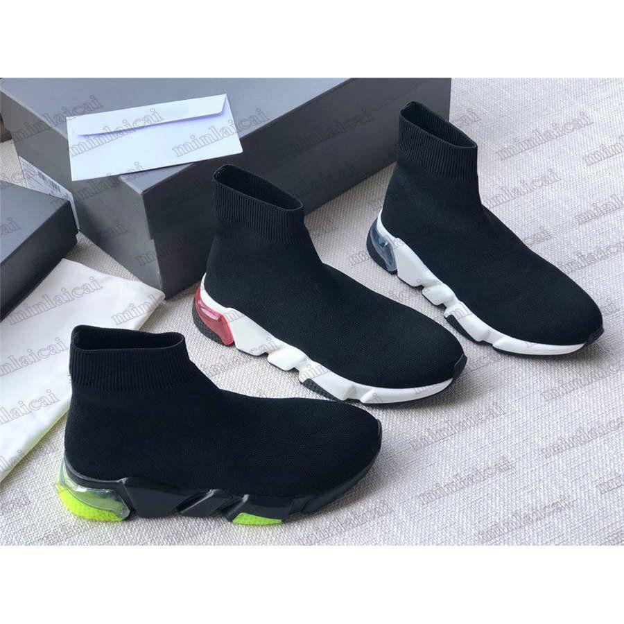 Mens Italien Speed Clear Sohle Socke Shoe Strick High Top Stiefel Luxurys Designer Damen Turnschuhe Übergroße Triple Black Trainers Boot Slip-On Casual Schuhe