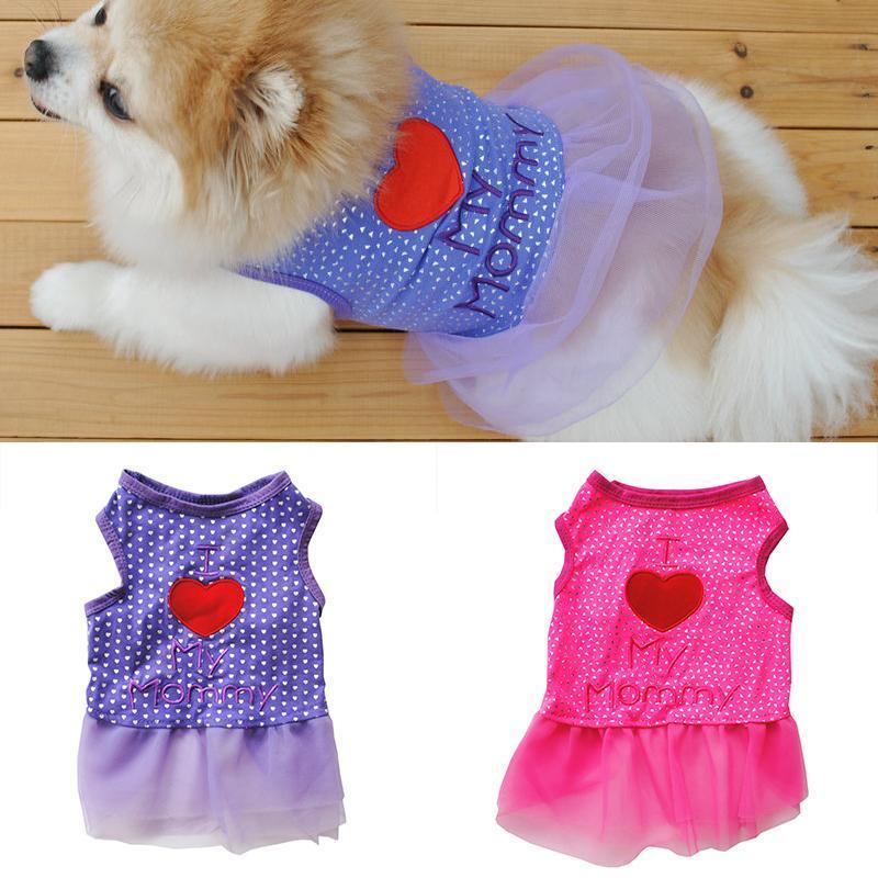 كلب روز زهرة الشاش اللباس تنورة جرو القط الأميرة الملابس الملابس