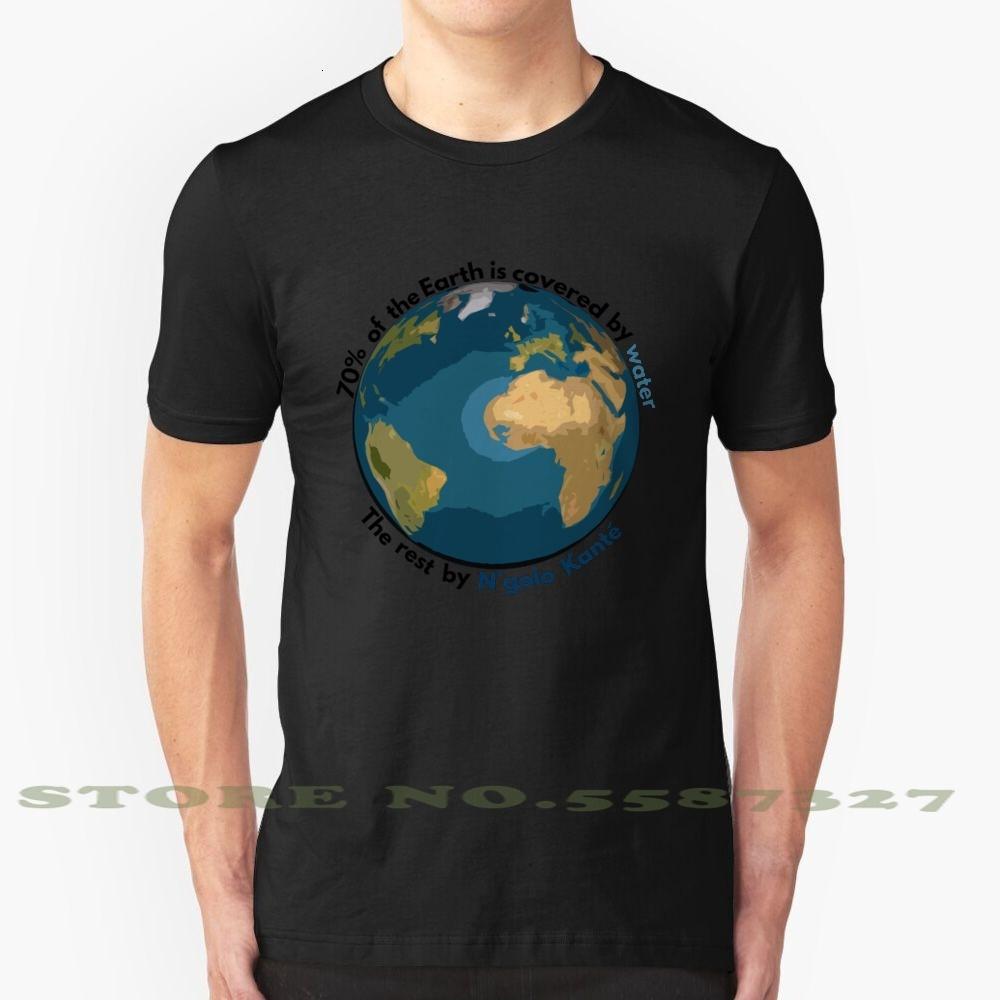 Il 70% della Terra è coperto dell'acqua, il resto di N'Golo Black White Tshirt per gli uomini donne Ngolo Kant Kante Club LCFC