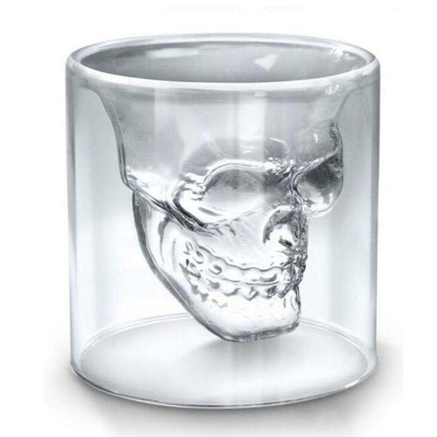 25 ملليلتر 70 ملليلتر 150 ملليلتر 250 ملليلتر 250 ملليلتر النبيذ كأس الجمجمة الزجاج بالرصاص البيرة الويسكي هالوين الديكور الإبداعية شفافة drinkware الشرب نظارات FY4501