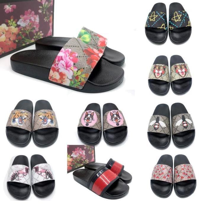 Zapatillas para hombres y mujeres París, Sandalias de verano, Zapatillas de playa, Zapatillas de flamp-flops de interior Blips Blanco negro Zapatillas de goma roja (tamaño de marco) 36-45