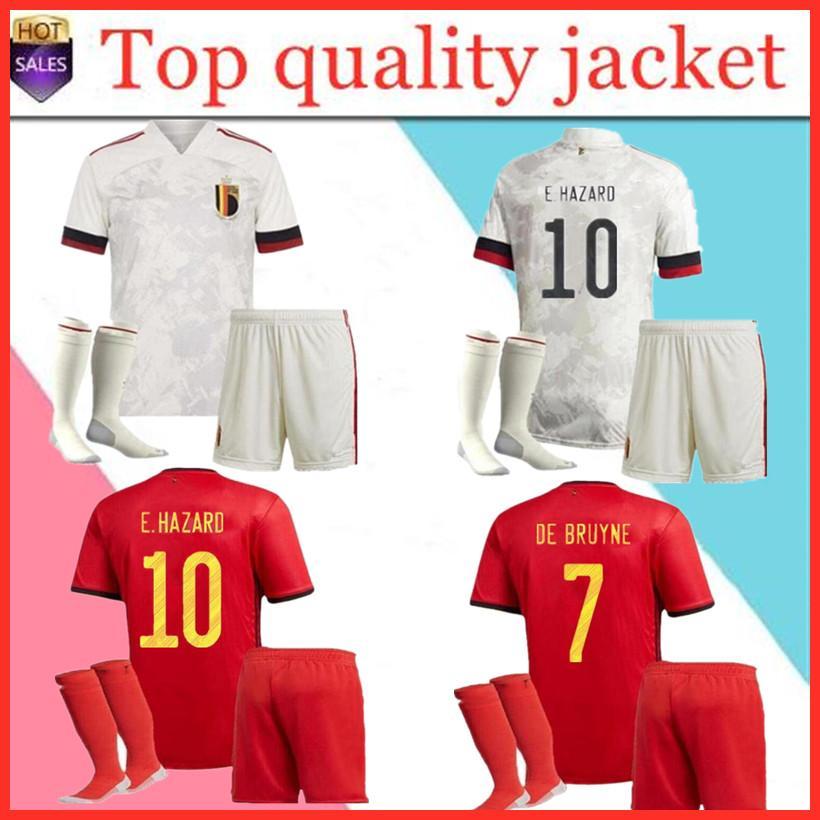 men+kids kit 2021 E.HAZARD DE BRUYNE R.LUKAKU MERTENS Man Belgium soccer jersey women kids kits football shirt Pants Uniform