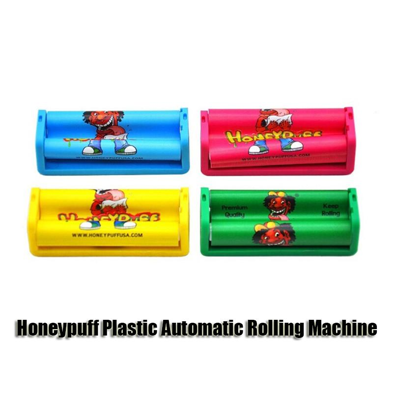 Honeypuff Plastic Automatic Rolling Machine Cigarette Tobacco Roller 70MM Papers Cigarette Rolling Cone Paper Smoking Pipe Dry Herb Muller