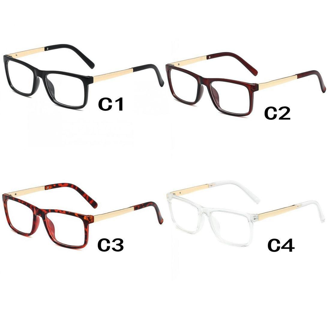 Okulary optyczne w USA Europejska Moda Sunglass Unisex Universal Okulary przeciwsłoneczne Wyczyść Przezroczyste Obiektywy 4 Kolory Ładne Ramki Ramki Vintage Eyeglasses