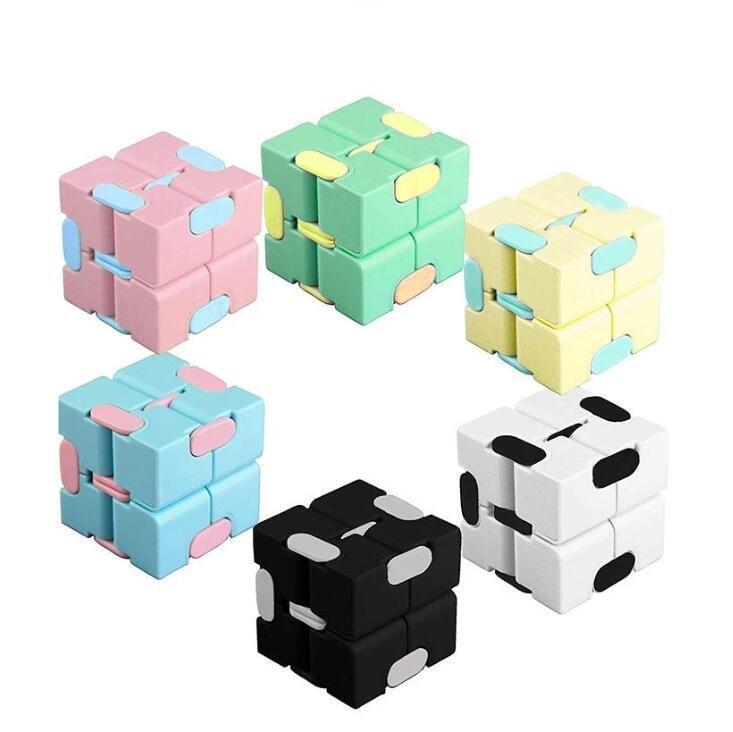 DHL Fast Infinity Cube Color Color Color Fidget Cube Anti Stress Cube Dedo Hand Guners Diversos Juguetes Para Niños Adultos Adhd ADHD Alivio de Estrés Juguete