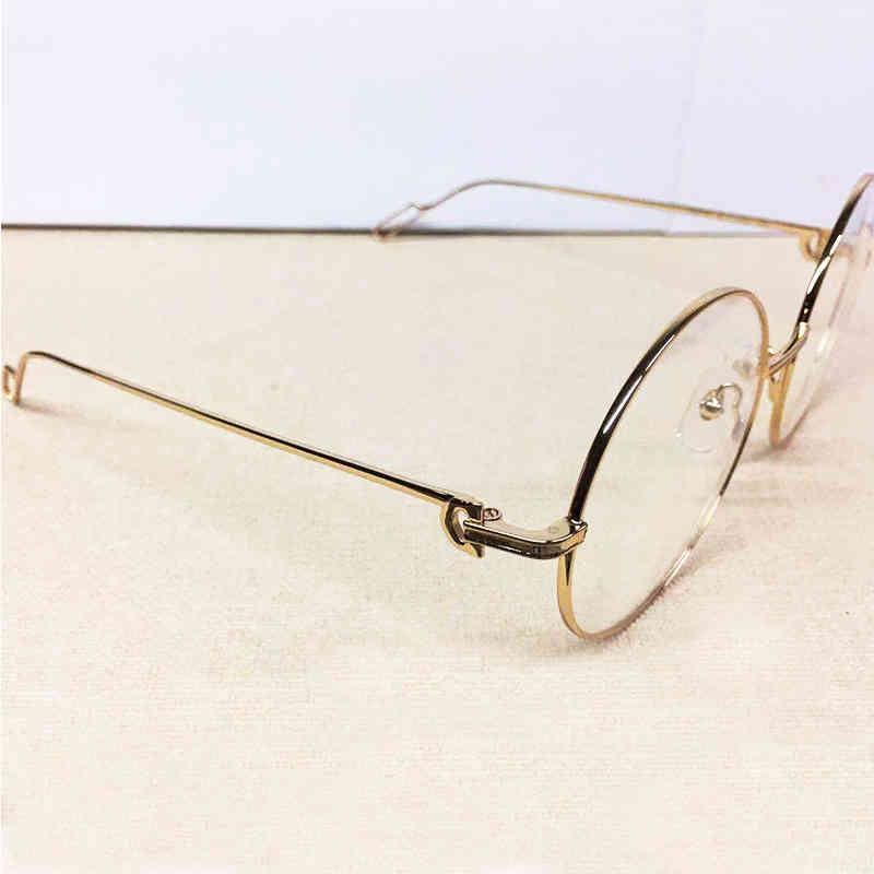 designer glasses Trendy Sunglasses Round Metal Sun Shades Luxury Carter Glasses Frame Gafas Brand Designer Men De Sol Hombre Festival Eyewear