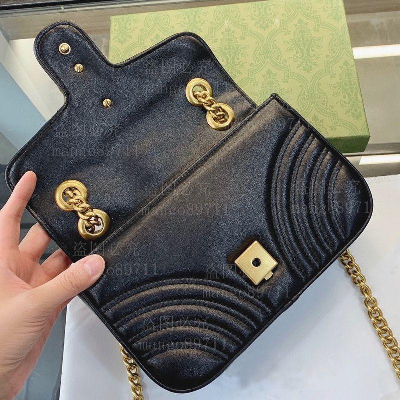 패션 핸드백 지갑 totes 가방 체인 어깨 가방 상자 먼지 가방과 함께 고전적인 지갑 핸드백