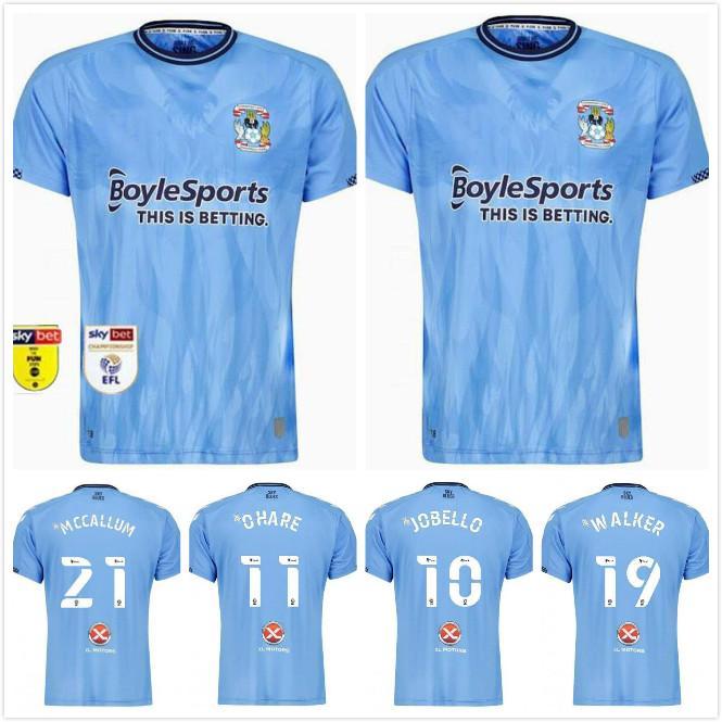 2021 2022 Coventry City Футбол Джетки Biamou Biamou Biamou Cakayoko Godden Jobello Shipley Kelly Jones Allen Shaf Custom 21 22 Главная Синяя футболка