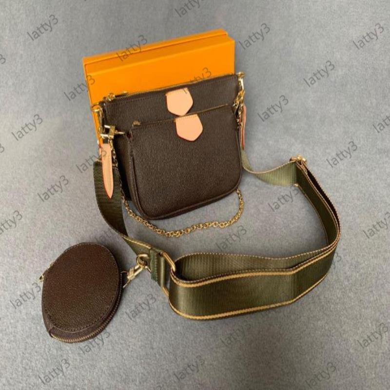 Véritables femmes 3pcs accessoires multi-cuir pochette pochette pochette fleur sac sacs de mode bandoulière épaule mini sac à main 8 sacs sacs couleur TIIG