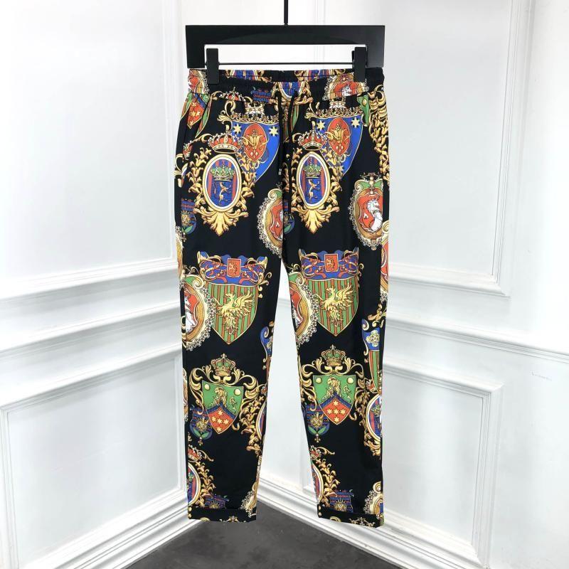 Pantaloni da uomo moda 2021 Pista di lusso European European Design Party Style Abbigliamento
