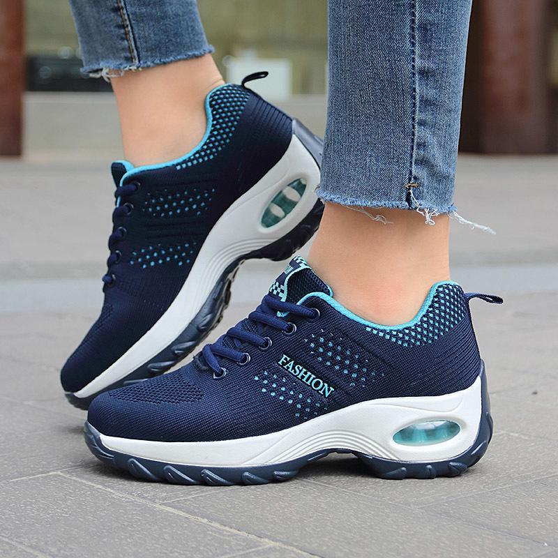 Kadın Platformu Ayakkabı Nefes Hafif Sneakers Yastık Kadın Moda Kadın Rahat Tenis Zapatillas Mujer Plataforma 210322