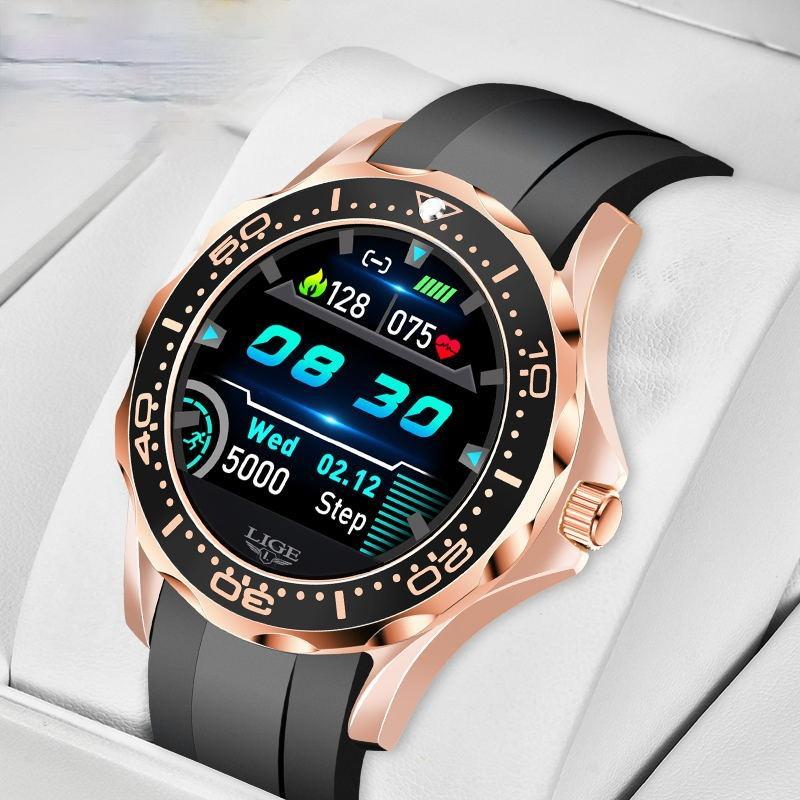 2021 Sono Monitoramento Smart Watch Men Frequência Heart Pressão Smart Watches Inteligente Lembrete de Informações Esportes à prova d 'água relógio inteligente melhor presente