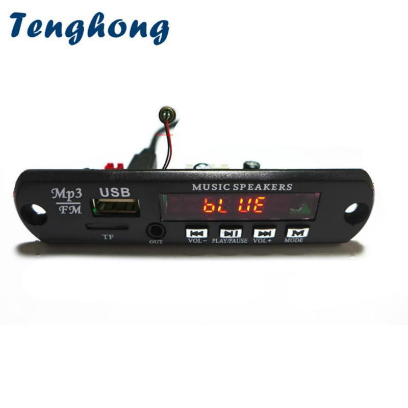 MP4 jogadores TenGhong MP3 Decoder Board Bluetooth 4.2 DC5V 9V 12V Módulo de Decodificação de Áudio Módulo FLAC WMA WAV TF Rádio USB Aux para Alto-falante de Carro