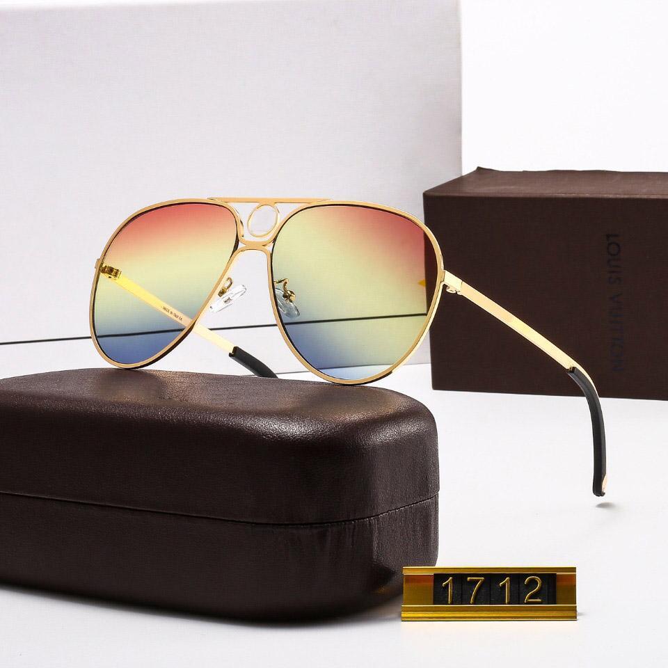 1712M جودة عالية مصمم الأزياء العلامة التجارية نظارات شمسية للرجال والنساء السفر التسوق UV400 حماية الرجعية ظلال الطيار