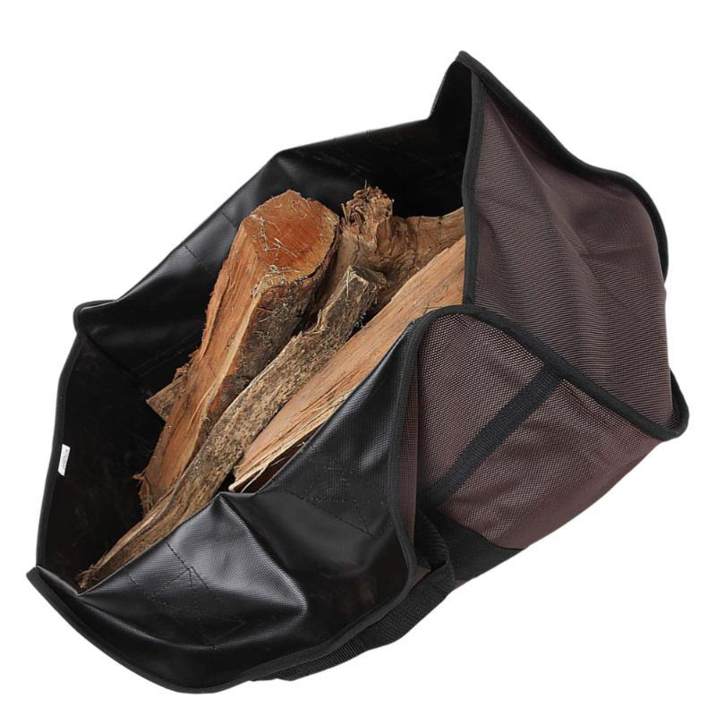 Sacos de Armazenamento 1 Pc Pacote de Logging Wood Ferramentas de Lareira Grande Capacidade Log Tote Bolsa Suporte de Lenha Suporte (café)