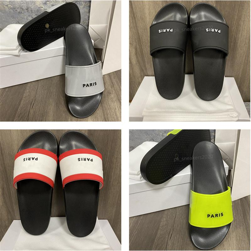 Top Quality women sandals Slides Summer Fashion Indoor Slippers Wide Flat Flip Flop With Box Size EUR36-46