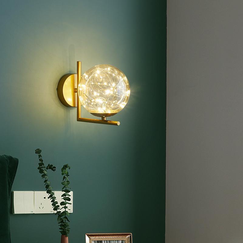 노르딕 현대 벽 램프 Gypsophila 거실 침실 침실에 대 한 LED 매달려 침대 옆