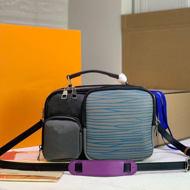 Multi Pochette Classic Messenger Bag Pockets Women Handbag Crossbody Shoulder Bags Canvas Leather Tote Fashion Letter Patchwork Color Handbags Pouch