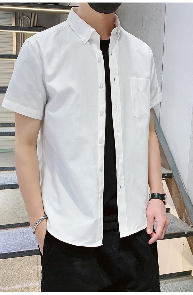 Camisas casuales para hombres 2021 camisa de verano hombre tamaño grande estilo chino hombres algodón manga corta solapa ocio moda 500230