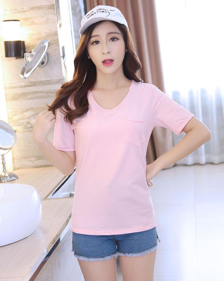 T-shirt Coreano Verão Algodão Sólido Manga Curta T-Shirt Mulheres Solta Camisa Bodycon Mulheres Tops Vestidos 210323