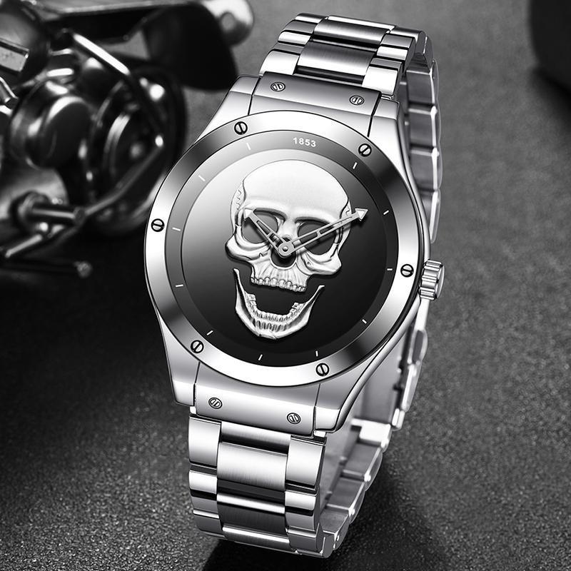 Relógios de Quartz de Aço Inoxidável Relógios de Moda Lige Relógio de Pulso Causal Business Top Homens Masculino Clock relógios de pulso