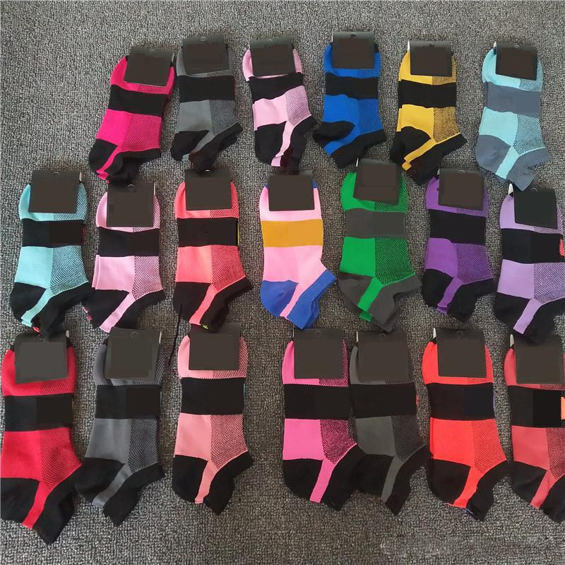 Lady Girls Humidité - Mode Fashion Chaussettes Multicolors Noir Séchage rapide Nylon Chaussette courte Chaussette courte avec Tags Cardboard Sports Cheerleaders