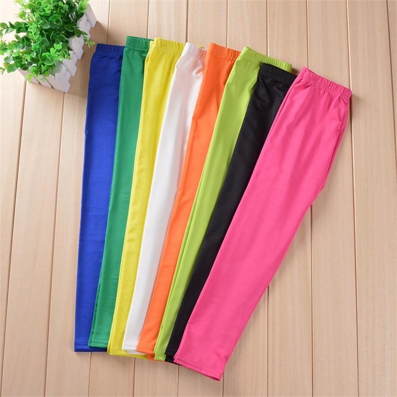 Ragazze Pantaloni Moda Bambini Pantaloni a matita Pantaloni a colori solidi Per Bambini 2-9 anni Girl Capris Toddler Cotton Leggings 1936 Z2