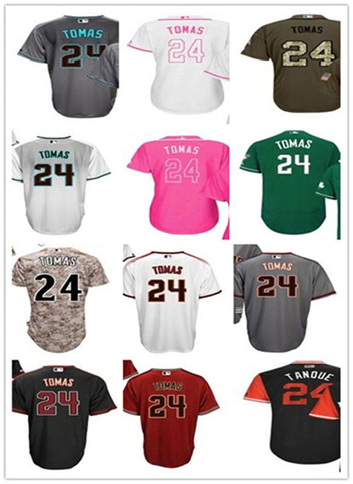 Uomo Donna Giovani Yasmany 24 Tomas Baseball Jerseys Arizona