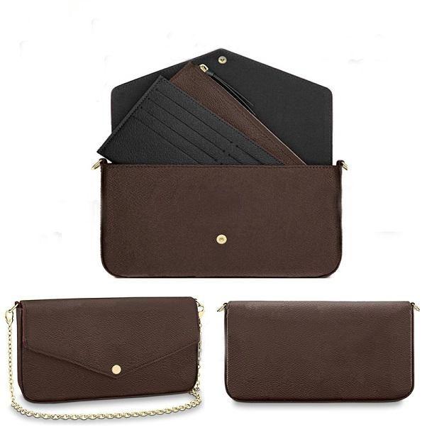 Sacola das mulheres de alta qualidade Bolsas de compras de três peças Top Ombro sacos Mini 22 * 12 cm Lady Cross Body