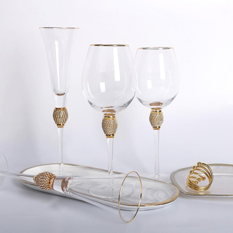 프놈펜 칵테일 유리 다이아몬드 와인으로 싸서 샴페인 잔 수 크리스탈 포도 컵 안경
