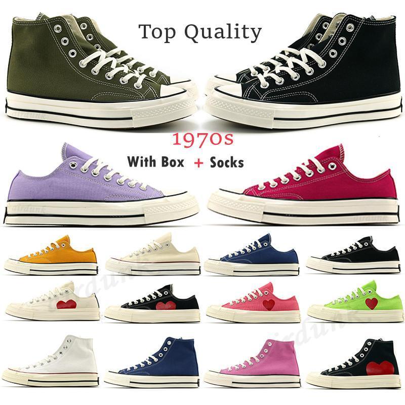 Klasik Kampüs Joker Tuval 1970'ler Büyük Gözler Rahat Ayakkabılar Platformu Ortak Adı Chuck 70 Üçlü Siyah Beyaz Yüksek Düşük Mens Chucks 1970 Spor Yıldız Sneakers