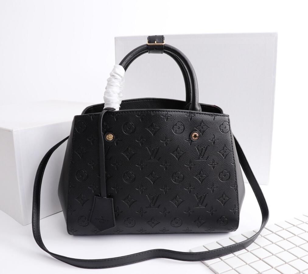 Luxurys 디자이너 핸드백 지갑 몬티 igne 가방 여성 토트 브랜드 편지 엠보싱 정품 가죽 어깨 가방 크로스 바디 가방 Satchel N41056