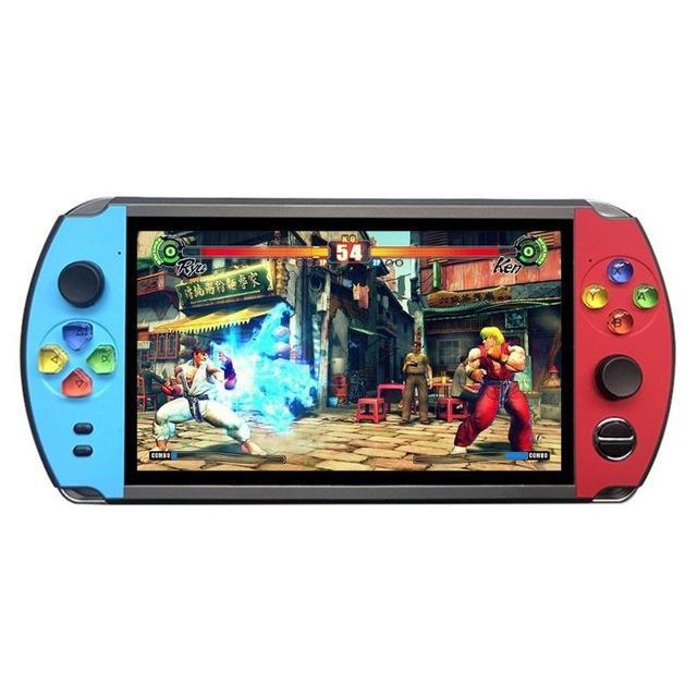 """Novo X19 Retro Handheld Jogo Jogador 8GB 7.0 """"LCD Color Tela Videogame Console para jogador nostálgico Criança Presente"""