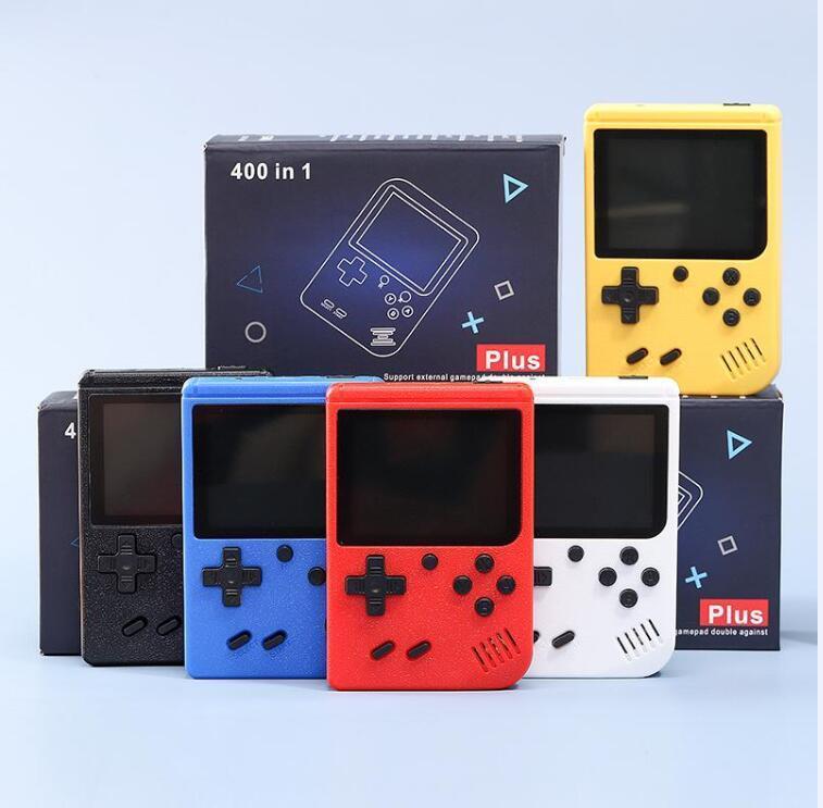 400 in 1 미니 핸드 헬드 비디오 게임 콘솔 플레이어 레트로 휴대용 8 비트 3.0 인치 다채로운 LCD 크래들